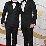 Dean-Charles Chapman and George MacKay at the 2020 BAFTAs in London