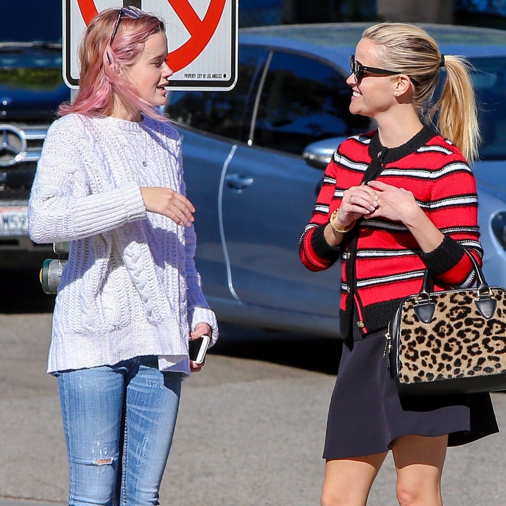 Reese Witherspoon and Ava Phillippe Going to Nail Salon | POPSUGAR ...