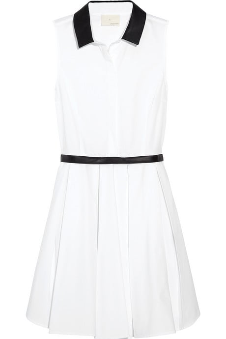 This cute tennis dress reminds us of something Charlotte York would have worn on the court — and the leather trim gives it just a bit of a badass vibe.  Boy by Band of Outsiders Leather-Trim Collared Dress ($725)