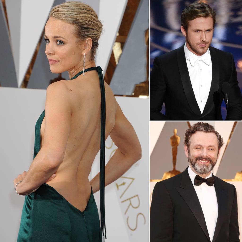 Rachel McAdams, Ryan Gosling, and Michael Sheen at the Oscars