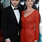 Elize du Toit and Rafe Spall were looking glamorous on the red carpet.