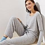 Loft Cozy Knit Pajama Set