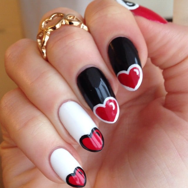 fall in love with the best valentines day nails from instagram - Nail Art Valentines Day