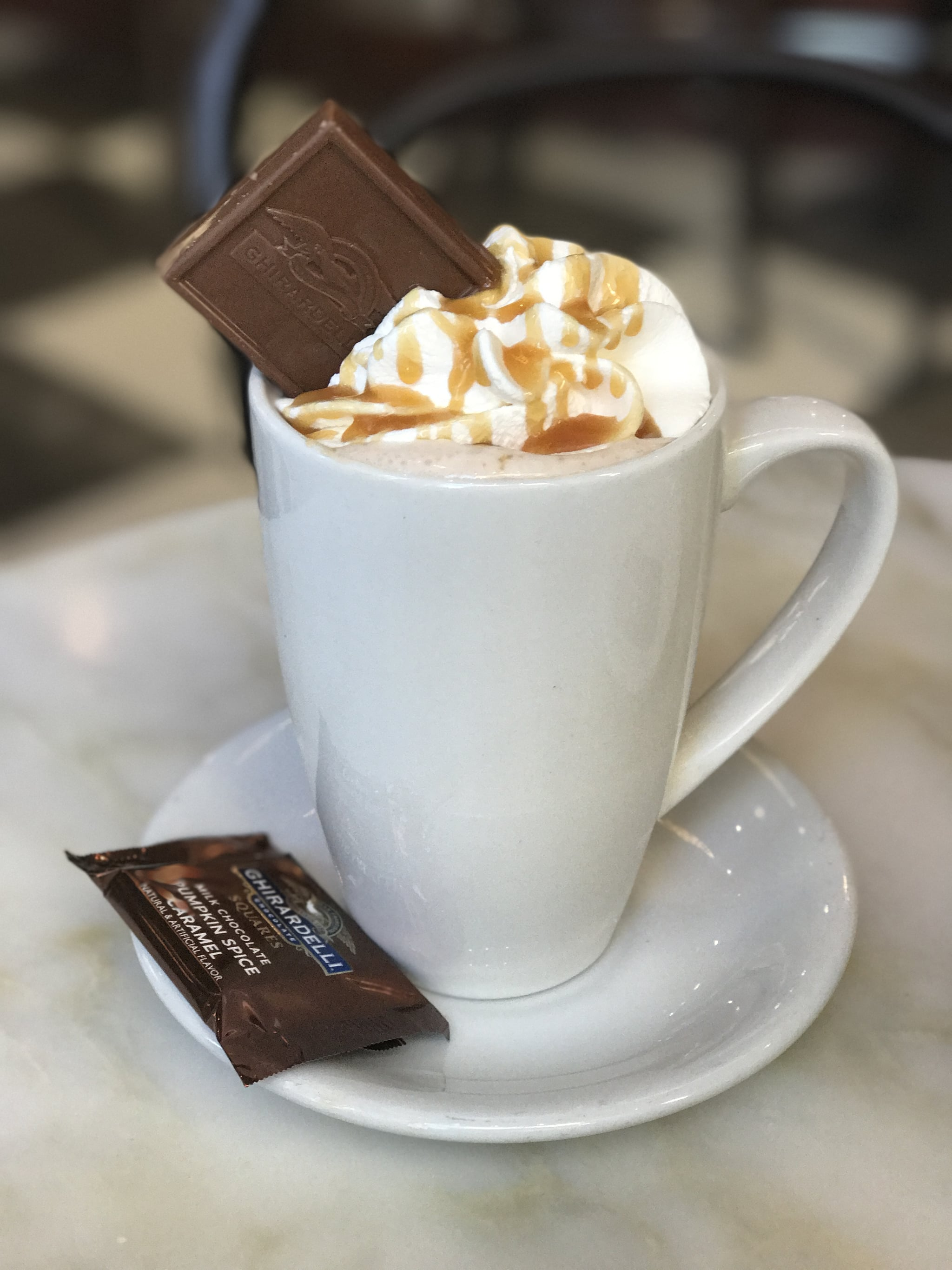 Ghirardelli Pumpkin Spice Caramel Hot Cocoa | POPSUGAR Food