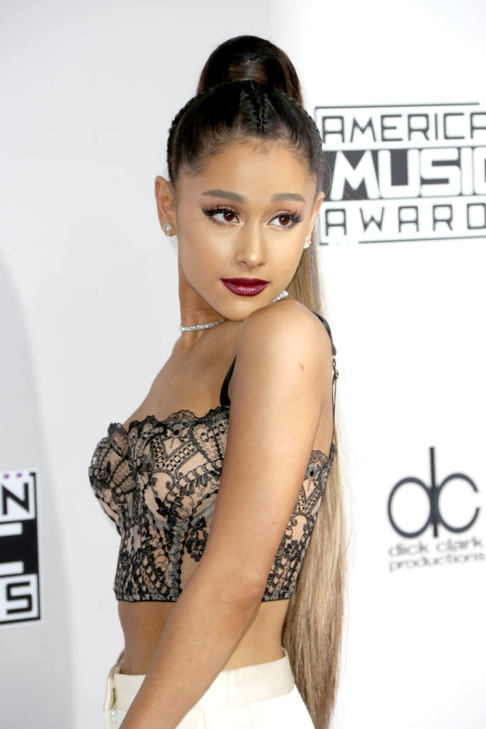 ariana grande hair and makeup at american music awards 2016 popsugar beauty australia. Black Bedroom Furniture Sets. Home Design Ideas