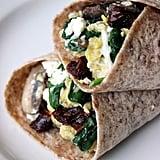 Breakfast: Spinach Feta Wrap