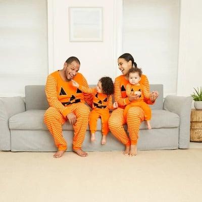 Halloween Pumpkin Matching Family Pajamas Collection