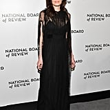 Wearing Valentino at the National Board of Review Awards Gala in 2018.