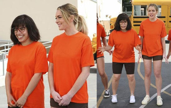Photos of Lindsay Lohan on Ugly Betty