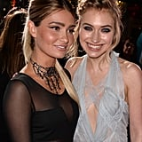 Lauren linked up with Imogen Poots, who plays Aaron's love interest in Need For Speed.