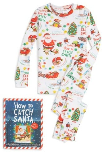 Toddler Books To Bed How To Catch A Santa Fitted Two-Piece Pajamas & Book Set