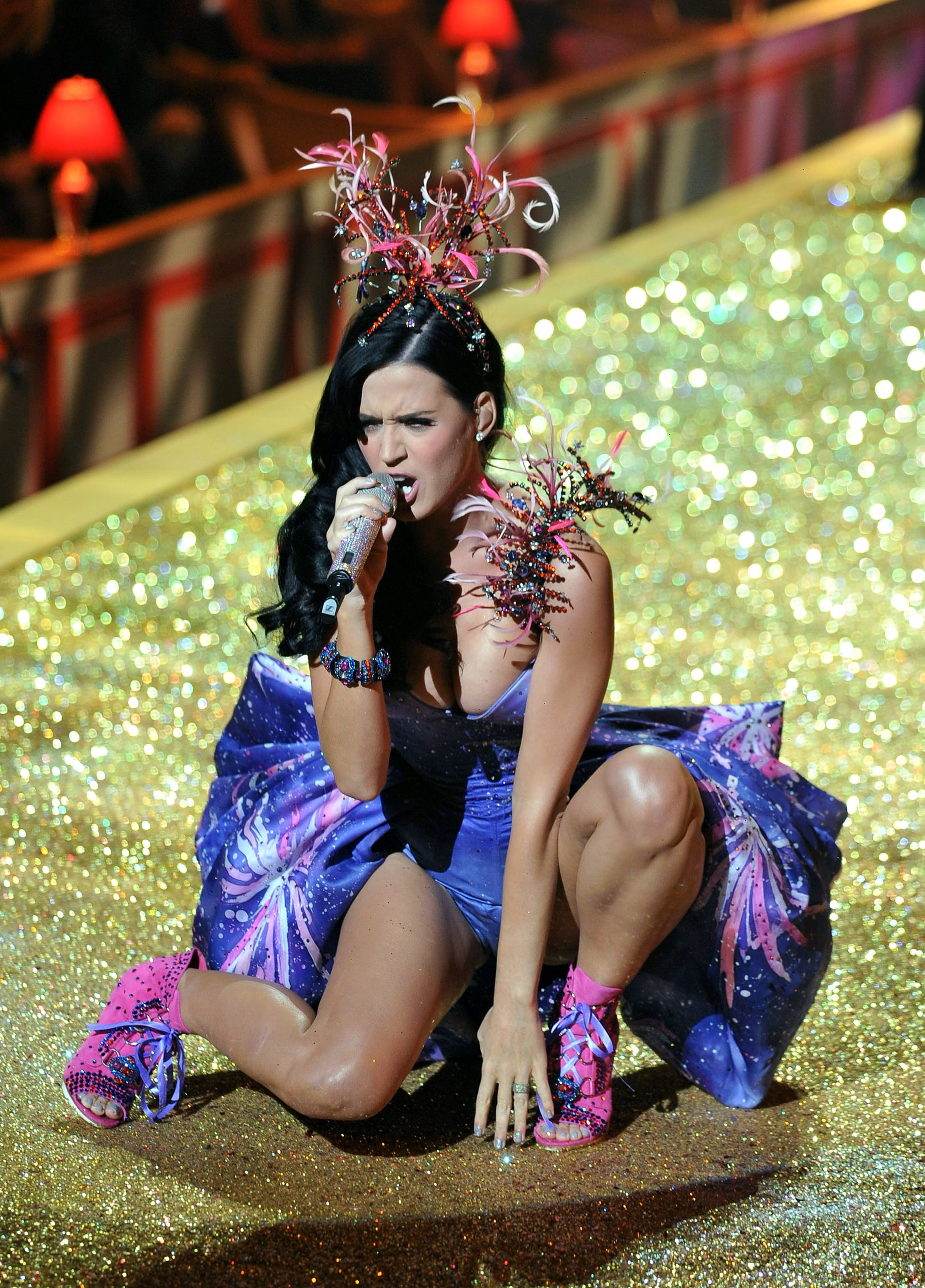 Katy Perry belted out multiple songs in 2010.