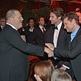 Harvey Weinstein greeted guests such as nominee Bradley Cooper.