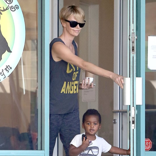 Charlize Theron and Jackson at Fit For Kids in LA
