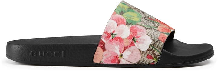7f06484bc50d Let your look blossom in these Gucci GG Blooms Supreme Slides ( 290 ...