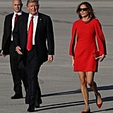 Melania in Givenchy, February