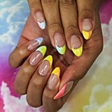 Summer Nail-Art Trend 2020: Rainbow French Manicure