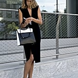 A pair of cool heals will transform a corporate style dress into a fun Friday night alternative.