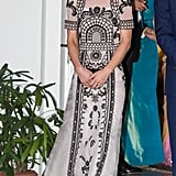 Although Kate had worn Temperley on many occasions, it wasn't until her tour of India last year that she wore one of its classic designs.
