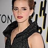 To complete her red carpet style, Emma finished with unique diamond earrings.