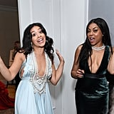 Gina Rodriguez and Taraji P. Henson Getting Their Drink On in a Secret Back Room