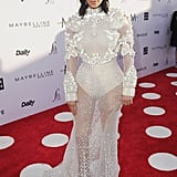 She Wore a White Givenchy Haute Couture Gown
