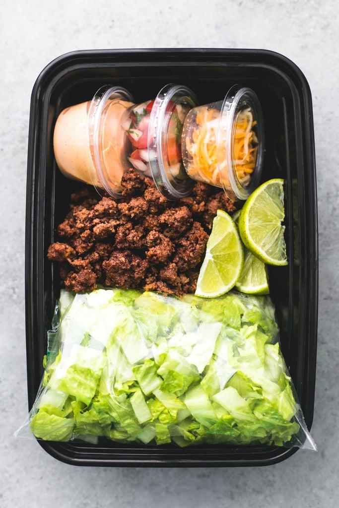 Ground Beef Taco Salad Meal Prep