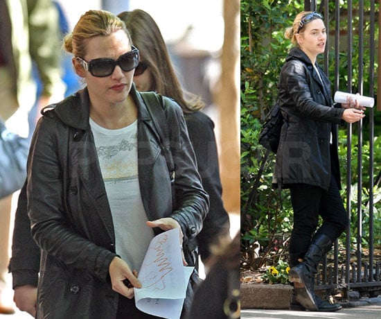 Photos of Kate Winslet Out for a Walk in NYC