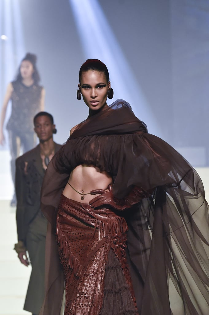 Cindy Bruna on the Jean Paul Gaultier Runway