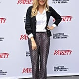 Sienna went preppy in printed pants for the 20th Hamptons International Film Festival in October 2012.