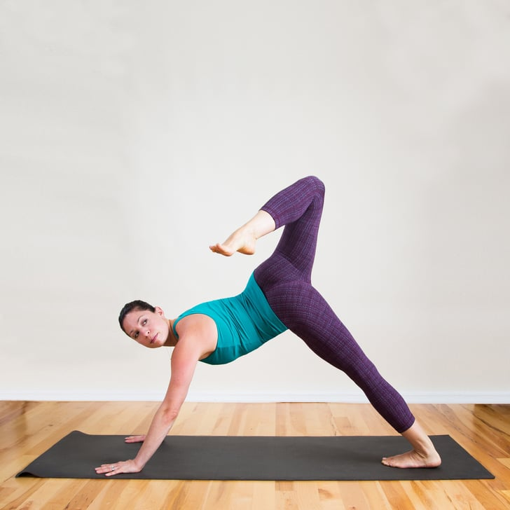 Arching Three Legged Dog Yoga Sequence To Tone Thighs