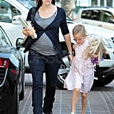 Jennifer Garner accompanied Violet to a birthday party.