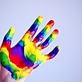 Create Fingerprint Rainbows and Pot of Gold Art