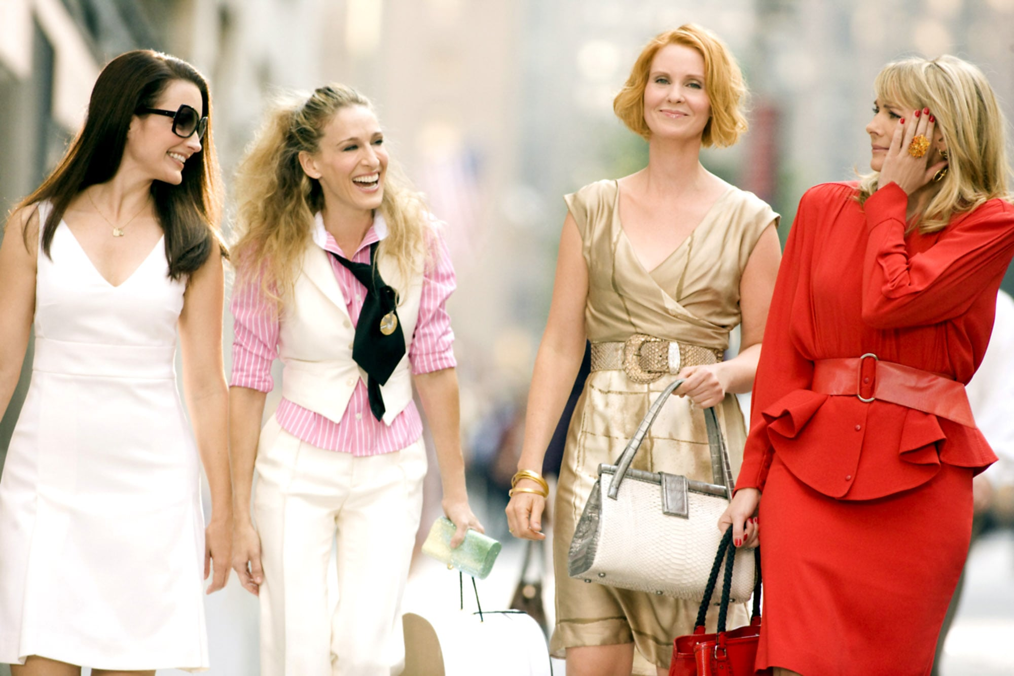 SEX AND THE CITY: THE MOVIE, Kristin Davis, Sarah Jessica Parker, Cynthia Nixon, Kim Cattrall, 2008. New Line Cinema/courtesy Everett Collection