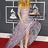 Lady Gaga in Futuristic Dress at 2010 Grammy Awards