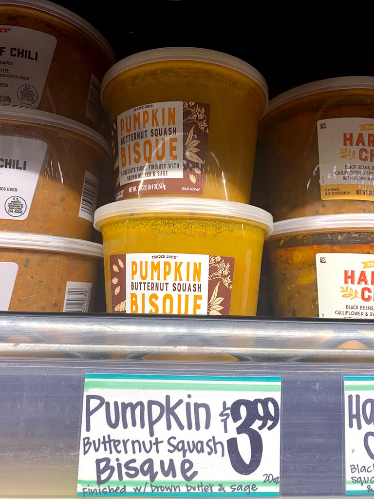 Pumpkin Butternut Squash Bisque ($4)