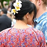 Meghan Markle's Tropical French Twist, 2018