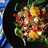 Vegan: Farro Salad With Citrus Vinaigrette, Almonds, Apples, and Arugula