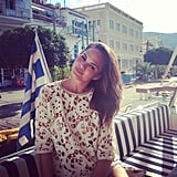 Chrissy Teigen shared a photo from her honeymoon excursion to Greece. Source: Instagram user chrissyteigen