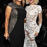 Queen Latifa and Beyoncé smiled for a snap.