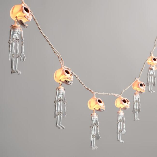 Dangling Skeletons Halloween String Lights ($20)