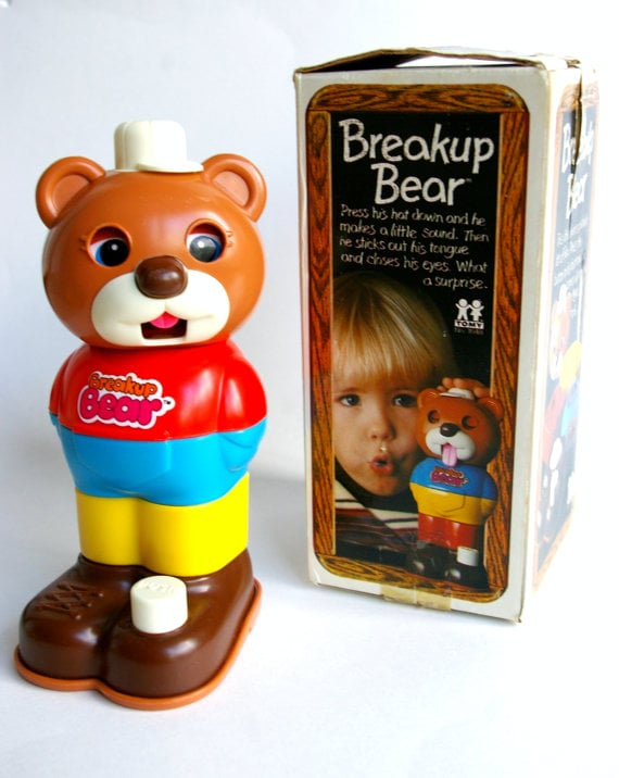 Even back in the '80s, this vintage Breakup Bear ($4) knew how to properly react to a breakup — by sticking out his tongue.