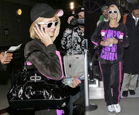 Paris Hilton Brings Her Hottie/Nottie Track Suit to NYC