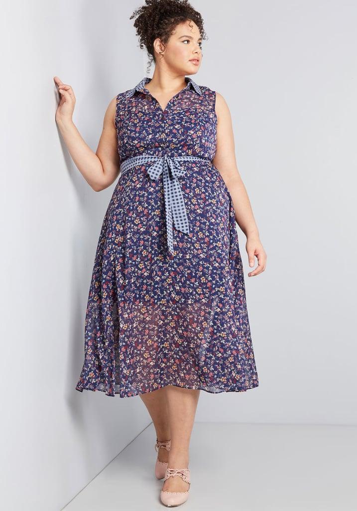 Effortless Mix Midi Dress