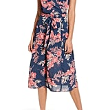 Row A Floral Surplice Midi Dress