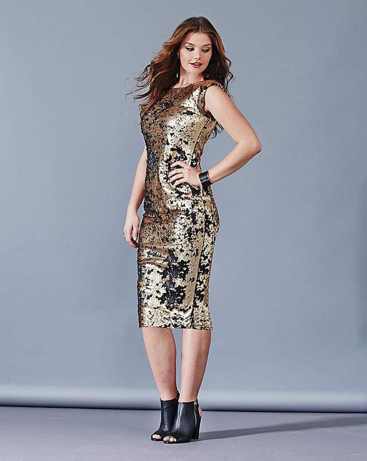 AX Paris Gold Sequin Bodycon Dress
