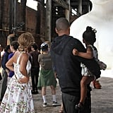 She visited Kara Walker's sugar sculpture in Brooklyn.