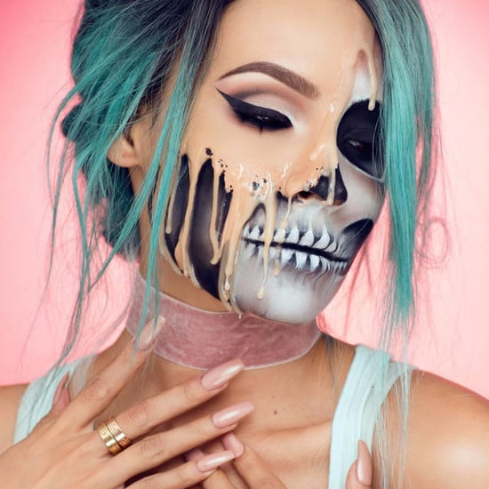 Melting Skull Halloween Makeup Tutorial
