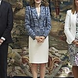 Queen Letizia Enjoys Styling Her Shifts With a Blazer, Giving Them a Polished and Professional Twist