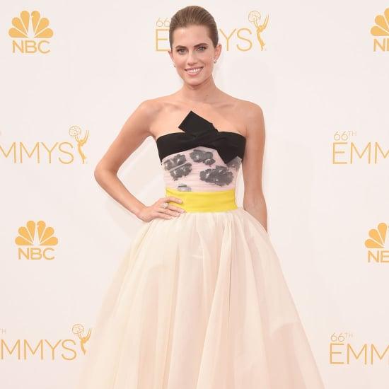 Allison Williams at 2014 Emmy Awards in Giambattista Valli